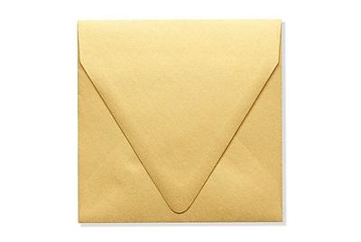 LUX 5 x 5 Square Contour Flap Envelopes 250/Box) 250/Box, Gold Metallic (1840-07-250)