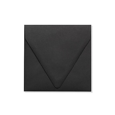 LUX 5 x 5 Square Contour Flap Envelopes 50/Box) 50/Box, Midnight Black (1840-B-50)
