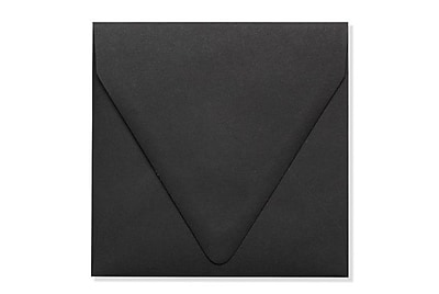 LUX 5 x 5 Square Contour Flap Envelopes 1000/Box) 1000/Box, Midnight Black (1840-B-1000)