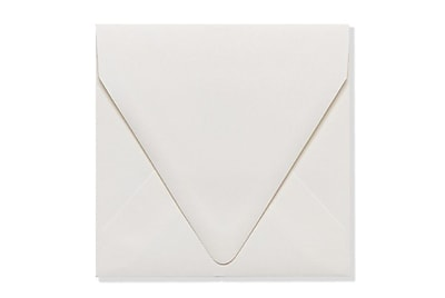 LUX 5 x 5 Square Contour Flap Envelopes 50/Box) 50/Box, Natural - 100% Recycled (1840-NPC-50)