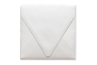 LUX 5 x 5 Square Contour Flap Envelopes 250/Box) 250/Box, Quartz Metallic (1840-08-250)