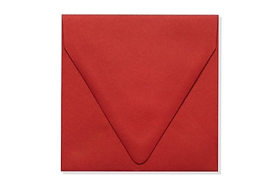LUX 5 x 5 Square Contour Flap Envelopes 1000/Box) 1000/Box, Ruby Red (EX-1840-18-1000)