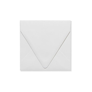 LUX 5 x 5 Square Contour Flap Envelopes, White, 100% Recycled, 250/Box (1840-WPC-250)