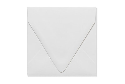 LUX 5 x 5 Square Contour Flap Envelopes 1000/Box) 1000/Box, White - 100% Recycled (1840-WPC-1000)