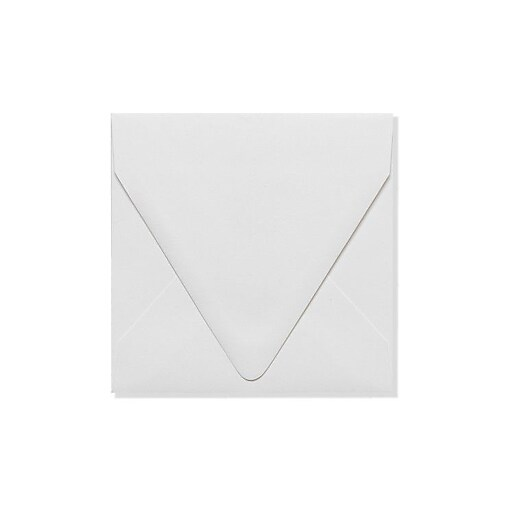 LUX 5 x 5 Square Contour Flap Envelopes 50/Box) 50/Box, White - 100% Recycled (1840-WPC-50)