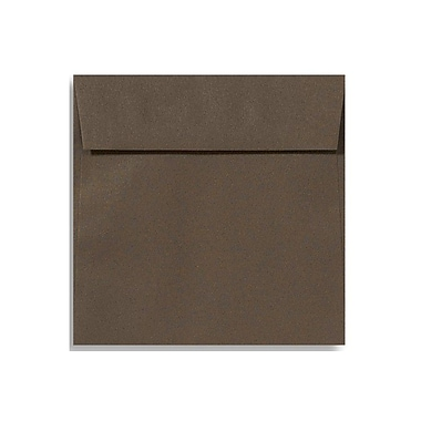 LUX 6 1/2 x 6 1/2 Square Envelopes 50/Box) 50/Box, Chocolate (EX8535-17-50)