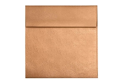 LUX 6 1/2 x 6 1/2 Square Envelopes 500/Box) 500/Box, Copper Metallic (8535-11-500)