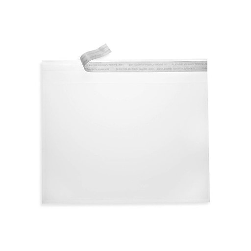 LUX 6 1/2 x 6 1/2 Square Envelopes 50/Box, Crystal Clear (CC66-50)