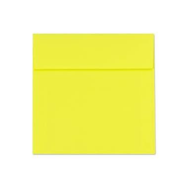 LUX 6 1/2 x 6 1/2 Square Envelopes 50/Box) 50/Box, Citrus (FE8535-20-50)