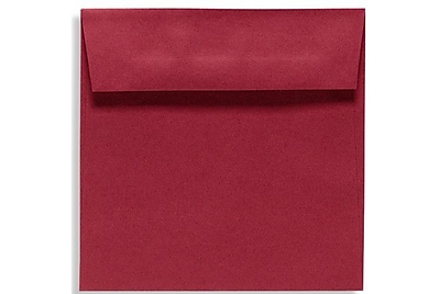 LUX 6 1/2 x 6 1/2 Square Envelopes 250/Box) 250/Box, Garnet (EX8535-26-250)