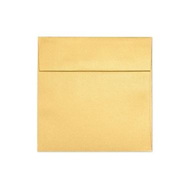 LUX 6 1/2 x 6 1/2 Square Envelopes 50/Box) 50/Box, Gold Metallic (8535-07-50)