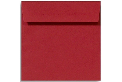 LUX 6 1/2 x 6 1/2 Square Envelopes 500/Box) 500/Box, Holiday Red (8535-15-500)