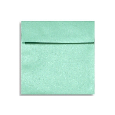LUX 6 1/2 x 6 1/2 Square Envelopes 50/Box) 50/Box, Lagoon Metallic (8535-27-50)