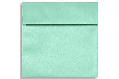 LUX 6 1/2 x 6 1/2 Square Envelopes 250/Box) 250/Box, Lagoon Metallic (8535-27-250)