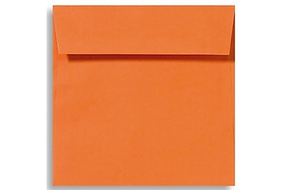 LUX 6 1/2 x 6 1/2 Square Envelopes 1000/Box) 1000/Box, Mandarin (EX8535-11-1000)