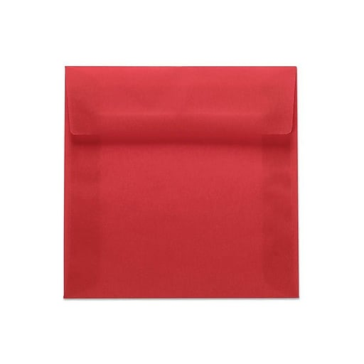 LUX 6 1/2 x 6 1/2 Square Envelopes 250/box, Red Translucent (8535-71-250)