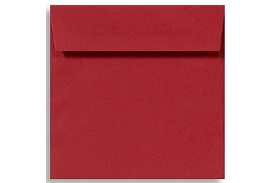 LUX 6 1/2 x 6 1/2 Square Envelopes 50/Box) 50/Box, Ruby Red (EX8535-18-50)