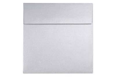 LUX 6 1/2 x 6 1/2 Square Envelopes 250/Box) 250/Box, Silver Metallic (8535-06-250)