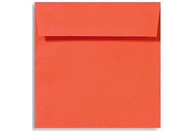 LUX 6 1/2 x 6 1/2 Square Envelopes 50/Box) 50/Box, Tangerine (LUX-8535-112-50)