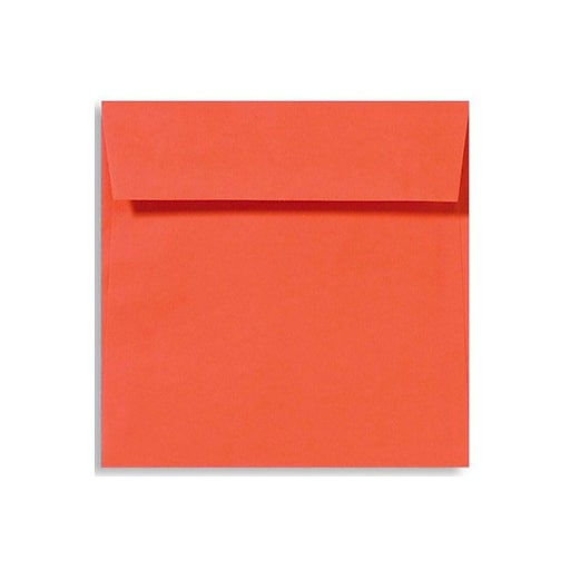 LUX 6 1/2 x 6 1/2 Square Envelopes 50/Box) 50/Box, Tangerine (LUX-8535-112-50)