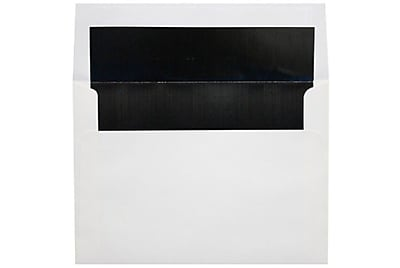 LUX 6 1/2 x 6 1/2 Foil Lined Square Envelopes 250/Box) 250/Box, White w/Black LUX Lining (FLWH8535-02-250)