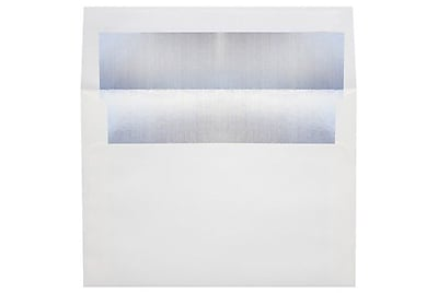 LUX 6 1/2 x 6 1/2 Foil Lined Square Envelopes 1000/Box) 1000/Box, White w/Silver LUX Lining (FLWH8535-031000)