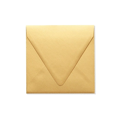 LUX 6 1/2 x 6 1/2 Square Contour Flap Envelopes 50/Box) 50/Box, Gold Metallic (1855-07-50)