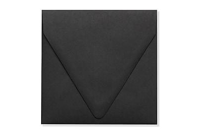 LUX 6 1/2 x 6 1/2 Square Contour Flap Envelopes 500/Box) 500/Box, Midnight Black (1855-B-500)