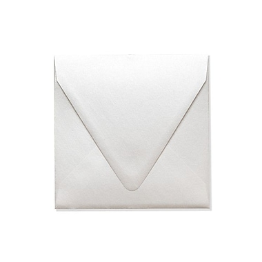LUX 6 1/2 x 6 1/2 Square Contour Flap Envelopes 1000/Box) 1000/Box, Quartz Metallic (1855-08-1000)