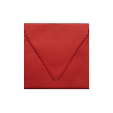 LUX 6 1/2 x 6 1/2 Square Contour Flap Envelopes 500/Box) 250/Box, Ruby Red (EX-1855-18-250)