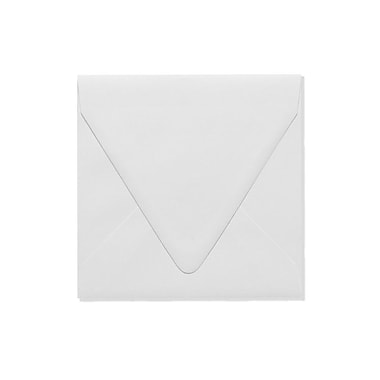 LUX 6 1/2 x 6 1/2 Square Contour Flap Envelopes, White, 100% Recycled, 50/Box (1855-WPC-50)