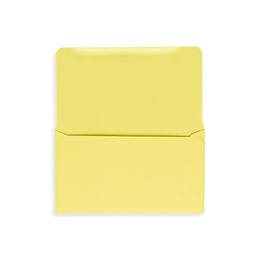 LUX 6 1/4 Remittance Envelopes (3 1/2 x 6 Closed) 500/box, Pastel Canary (R252-500)