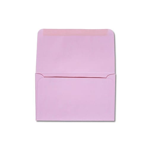 """LUX® 3 1/2"""" x 6"""" 6 1/4 24lbs. Remittance, Donation Envelopes, Pastel Pink, 500/Pack"""