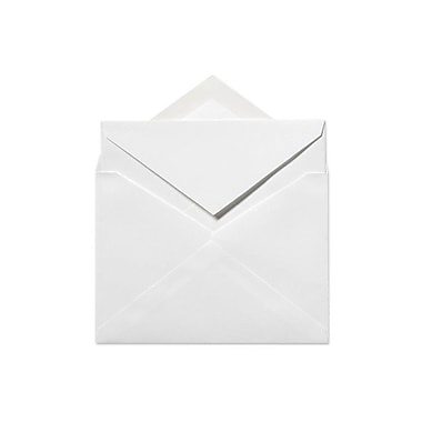 LUX 6 x 8 1/4 Outer Envelopes 50/Box) 50/Box, 70lb. Bright White (72771-50)