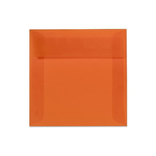 "LUX® 6"" x 9"" Booklet Envelopes, Orange Translucent, 250/Pack"