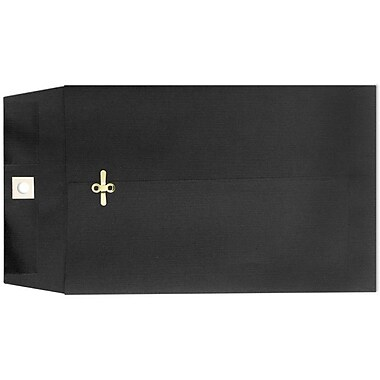 LUX 6 x 9 Clasp Envelopes, Midnight Black, 500/Box (87915-500)