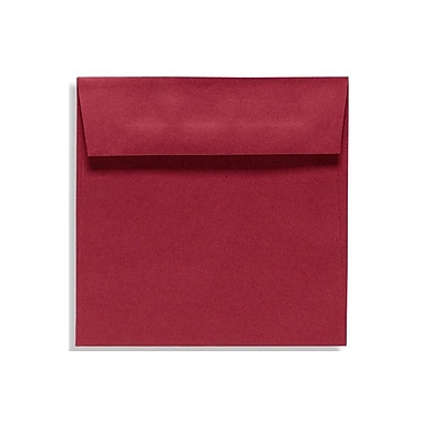 LUX 7 1/2 x 7 1/2 Square Envelopes 50/Box) 50/Box, Garnet (EX8555-26-50)