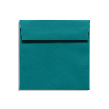 LUX 7 1/2 x 7 1/2 Square Envelopes, Teal, 50/Box (EX8555-25-50)