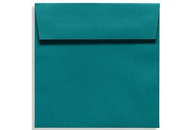 LUX 7 1/2 x 7 1/2 Square Envelopes 250/Box) 250/Box, Teal (EX8555-25-250)