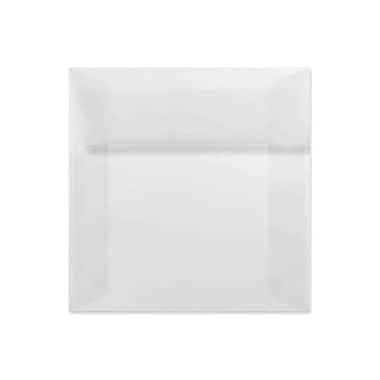LUX 7 x 7 Square Envelopes 50/Box) 50/Box, Clear Translucent (8545-50-50)