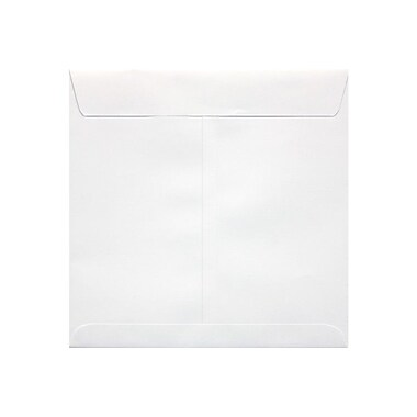 LUX 8 x 8 Square Envelopes, 70lb., White, 50/Box (10969-50)