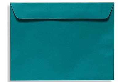 LUX 9 x 12 Booklet Envelopes 50/Box, Teal (EX4899-25-50)
