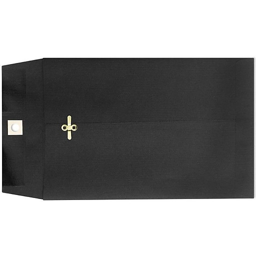 "LUX® 9"" x 12"" Open End Clasp Envelopes, Midnight Black, 100/Pack"