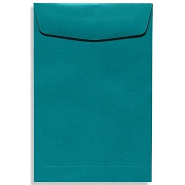 LUX 9 x 12 Open End Envelopes 500/Box, Teal (EX4894-25-500)