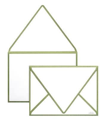 LUX A1 Colorseams Envelopes (3 5/8 x 5 1/8) 1000/Box, Avocado Seam (CS1865-27-1000)