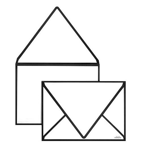 LUX A1 Colorseams Envelopes (3 5/8 x 5 1/8) 50/Box, Black Seam (CS1865-B-50)