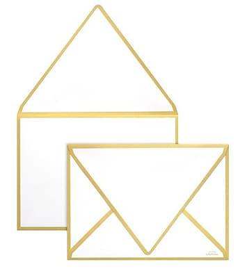 LUX A1 Colorseams Envelopes (3 5/8 x 5 1/8) 50/Box, Gold Seam (CS1865-07-50)