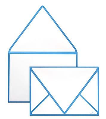 LUX A7 Colorseams Envelopes (5 1/4 x 7 1/4) 50/Box, Pool Seam (CS1880-102-50)
