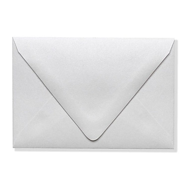 LUX A1 Contour Flap Envelopes (3 5/8 x 5 1/8) 1000/Box, Crystal Metallic (1865-30-1000)