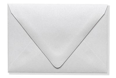 LUX A1 Contour Flap Envelopes (3 5/8 x 5 1/8) 1000/Box, Crystal Metallic (1865-30-1000)
